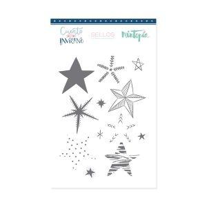 sellos estrellas decoradas