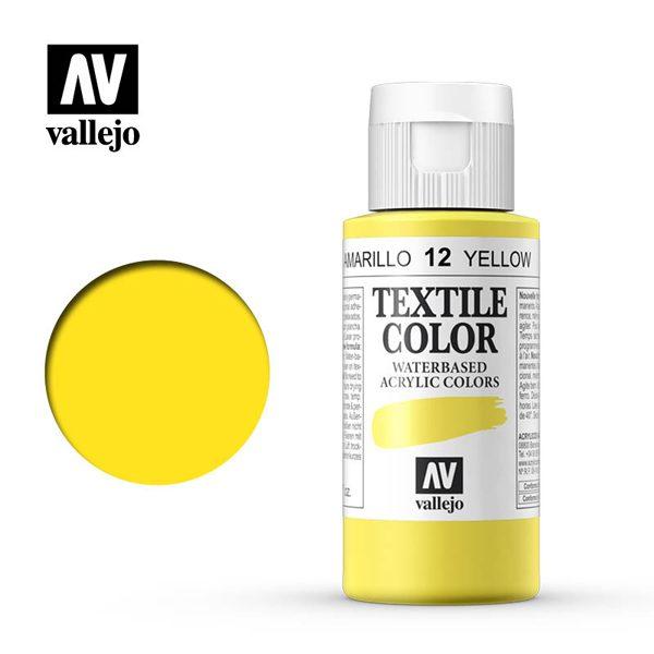 textile color vallejo amarillo 12