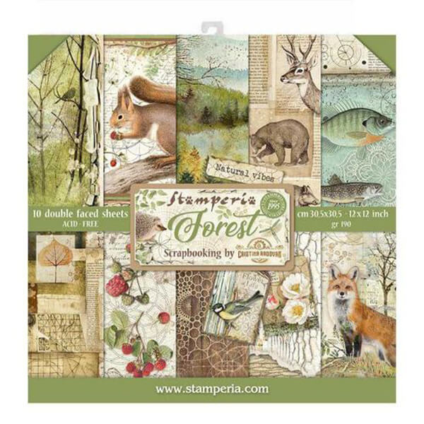 Kit papeles Forest Stamperia 12x12
