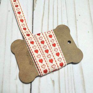 cinta decorativa corazones rojos