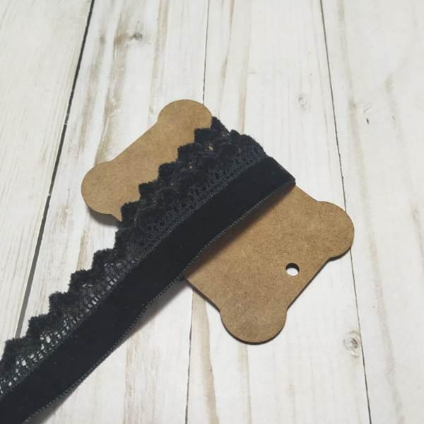 cinta tapacosturas velvet negro