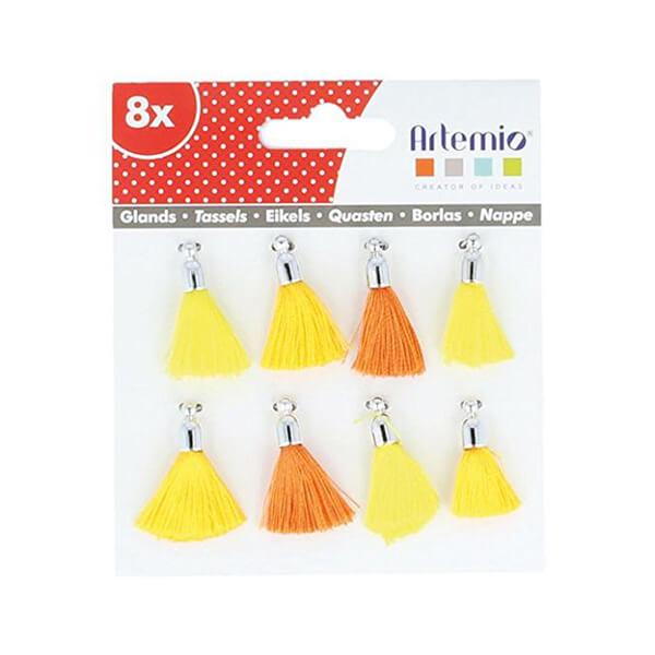 pack de borlas amarillo