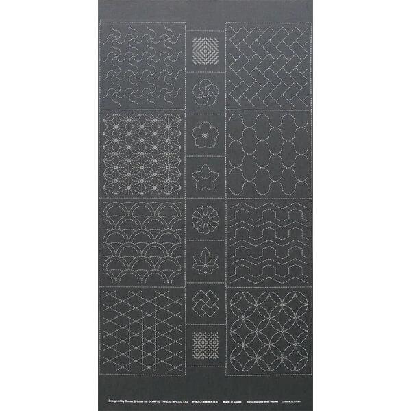 panel sashiko azul