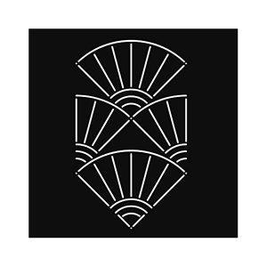 stencil plantilla sashiko abanicos