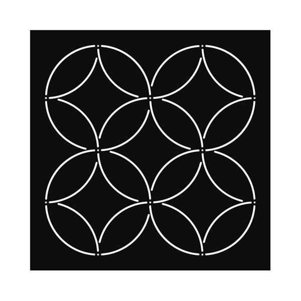 stencil plantilla sashiko circulos