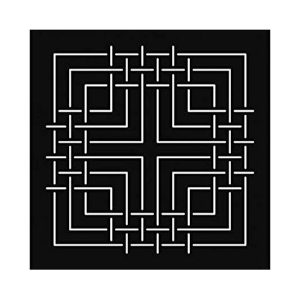stencil plantilla sashiko cuadrados
