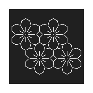 stencil plantilla sashiko flores