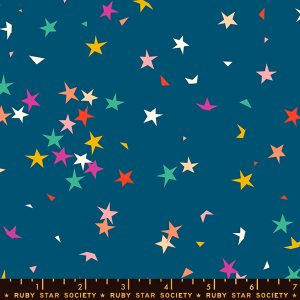 Tela-estrellas azul