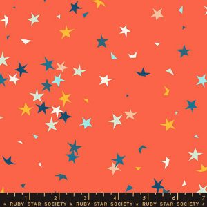 Tela-estrellas-naranja
