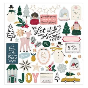 chipboard stickers snowflake