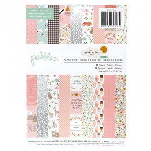 pad papeles pebbles girl