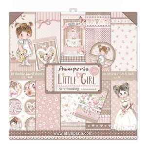 Kit de papeles Little Girl