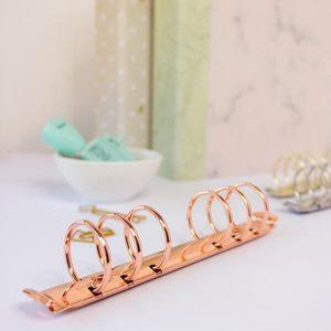 mecanismo de 6 anillas oro rosado