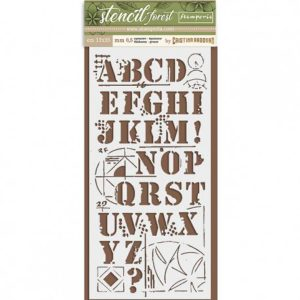 stencil abecedario forest