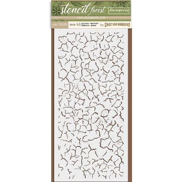 stencil crackle stamperia