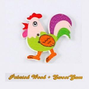Botón infantil gallo
