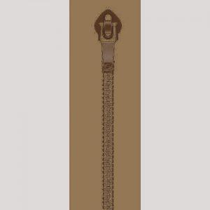 cremallera 25 cm canela