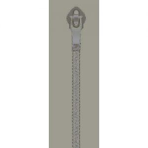 cremallera 25 cm gris