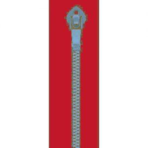 cremallera 25 cm roja