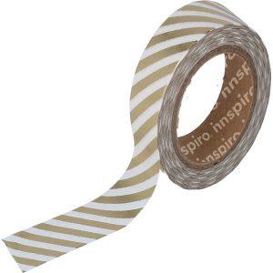 masking tape foil lineas doradas