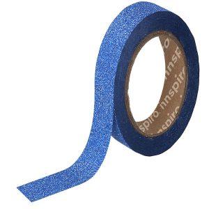masking tape purpurina azul