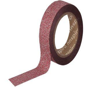 masking tape purpurina rojo