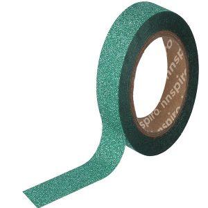 masking tape purpurina verde