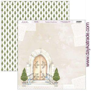 papel puerta iglesia