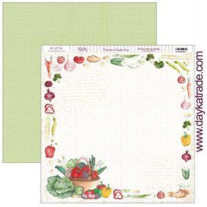 papel verduras cuadricula