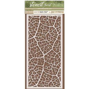 stencil leaf stamperia
