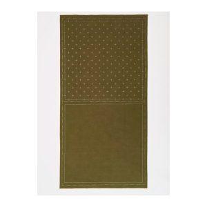 tela impresa sashiko cruces verde