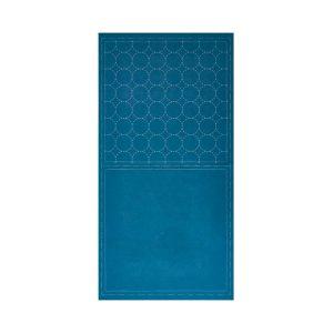 tela sashiko circulos azul