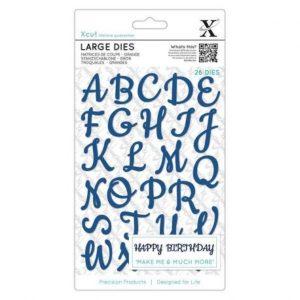 troqueles script alphabet upper case