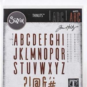 troqueles modelo alfanumérico 65 piezas Thinlits Sizzix