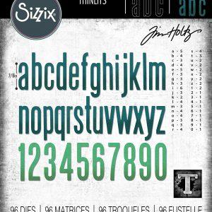 Troqueles alfanuméricos 96 piezas Thinlits Sizzix