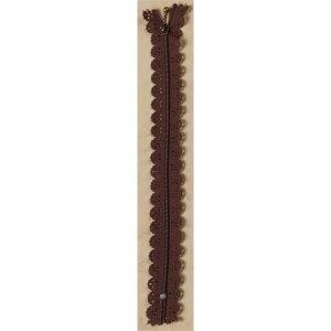 Cremallera fantasía 22 cm. marrón