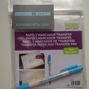 PAPEL Y MARCADOR TRANSFER