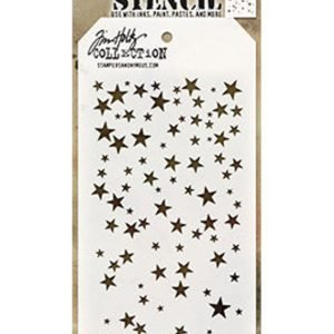 Stencil Layering Estrellas - Tim Holtz