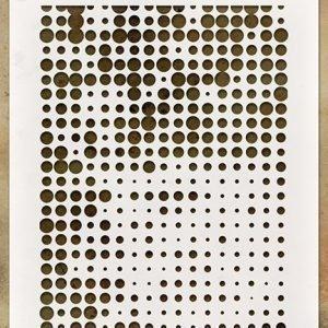 Stencil Layering Halftone - Tim Holtz
