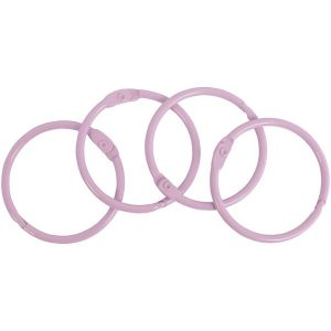 set anillas rosa claro