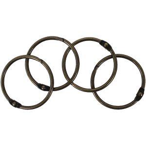 set 4 anillas cobre