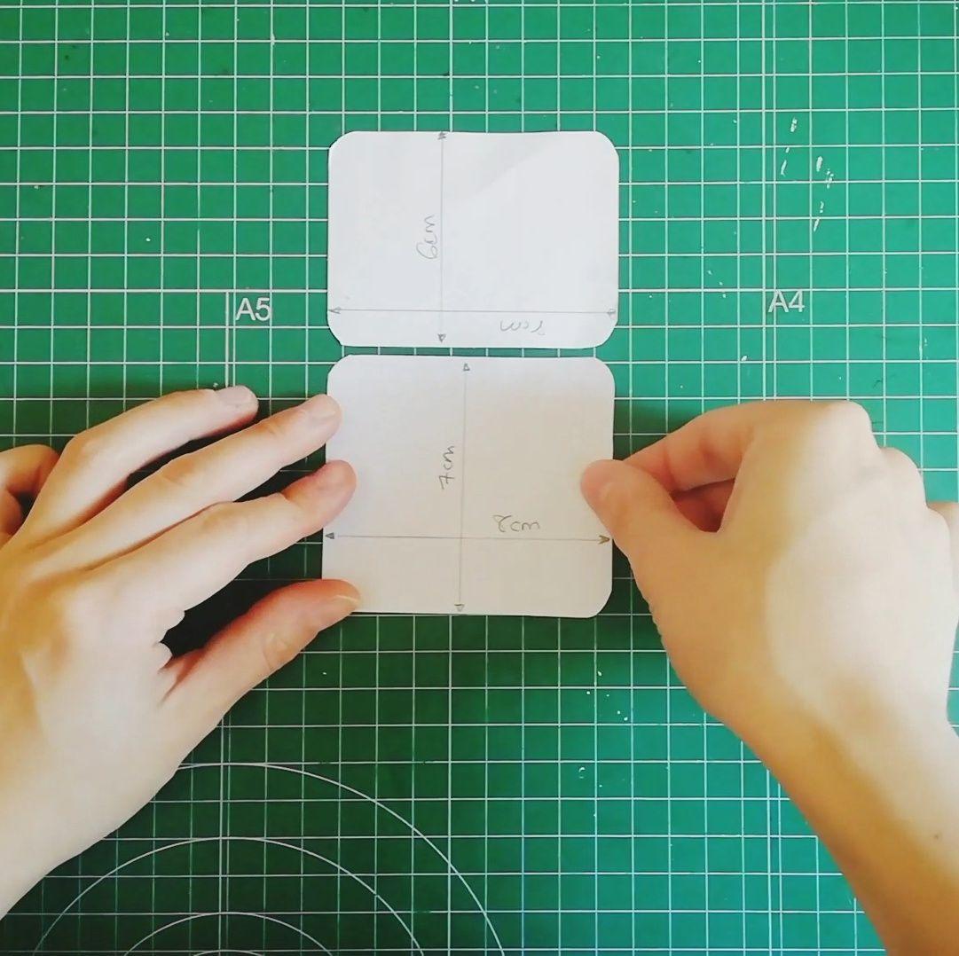 Acortar piezas para tu fabric journal