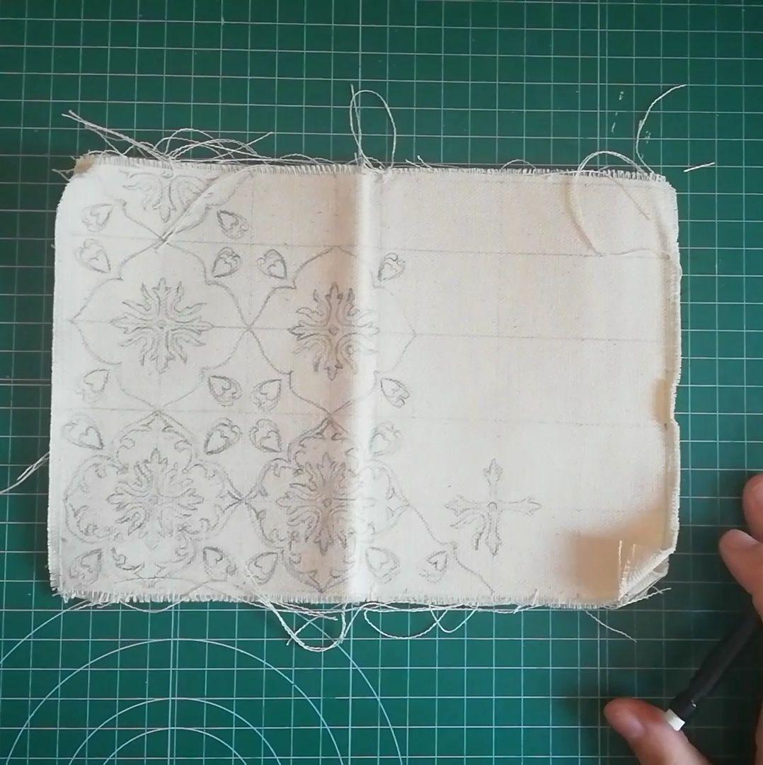 Dibujar un diseño para tu fabric journal