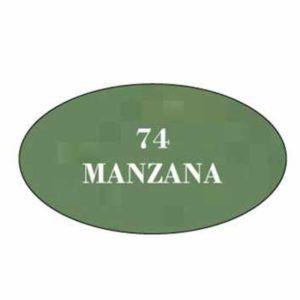 Pintura acrilica mate Manzana 74