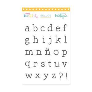 sello alfabeto maquina de escribir