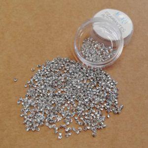 diamantes acrilicos color plateado