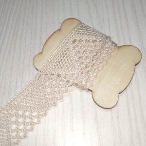 cinta decorativa ganchillo beige
