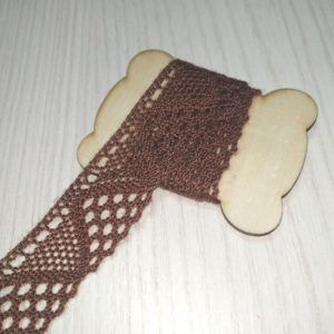 cinta decorativa ganchillo marrón
