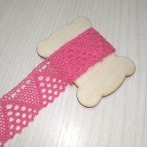 cinta decorativa ganchillo rosa