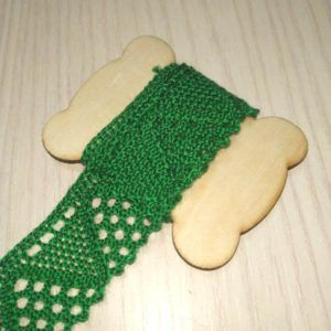 cinta decorativa ganchillo verde